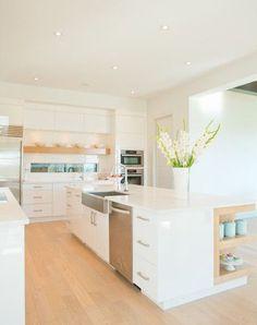 Top 6 White Modern Kitchen Design Ideas #modernkitchen #whitekitchen #kitchen #kitchendesign