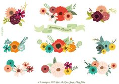 Summer Flowers by Delagrafica on Creative Market