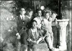 Federico García Lorca y familia