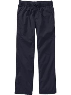 Boys Pull-On Canvas Pants