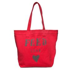Inspired by the burlap food sacks used by the UN World Food Programme, Lauren Bush Lauren created the FEED 1 bag to help raise funds and awareness for school feeding operations. To date, FEED has provided nearly 60 million school meals to children around the world.