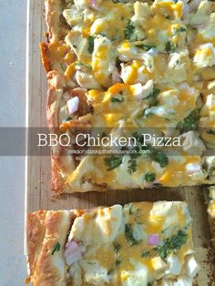 BBQ Chicken Pizza - So simple to make with stuff you probably already have on hand!