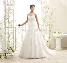 Sexy Wedding Gown Ball Gown Scoop Tank Sleeveless Open Back Floor Length Long Lace Bride Wedding Dresses