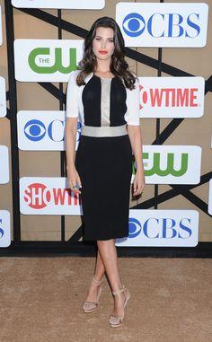 Meghan Ory en la fiesta veraniega de CBS, Showtime y The CW 2013