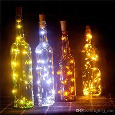 RGB Wine Bottle Cork Copper Lights 15inch/75cm 15 LED Wire String Lights for Bottle DIY Party Decor Christmas Halloween Wedding Mood Lights