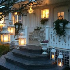 outdoor lighting using lanterns