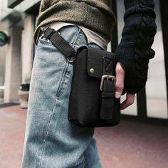 Men's Bag purses and handbags Leather PU Versatile Casual Small Waist packs Can Shoulder and Messenger-in Messenger Bags from Luggage & Bags...