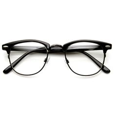 Vintage Optical RX Clear Lens Clubmaster Wayfarer Glasses 2946 49mm from zeroUV