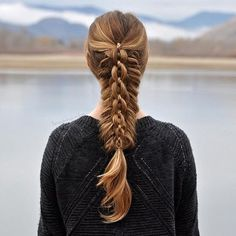If you want something special that you can do with much time, then here's a braided hairstyle that looks complicated but still stylish. And you may want to be more accustomed with all types of braid to perfect this one. So keep on practicing!
