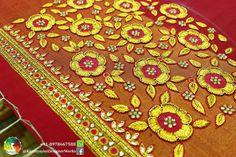 Best Blouse Designs, Wedding Saree Blouse Designs, Wedding Blouses, Hand Embroidery Designs, Embroidery Applique, Embroidery Patterns, Ear Chain, Work Blouse, Blouse Patterns