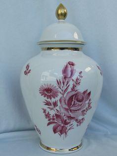 Große Deckel Vase Rosenmotiv,Seltmann Weiden Porzellan,Topzustand