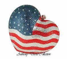 Red White and blue evening bag - USA Flag