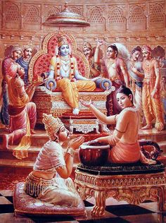 Lord Krishna Telling Ekadashi Importance to Pandavas
