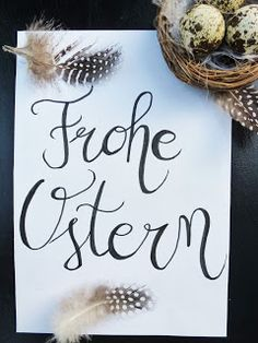 Ostergruß ~ Easter greeting ~ Hand lettering