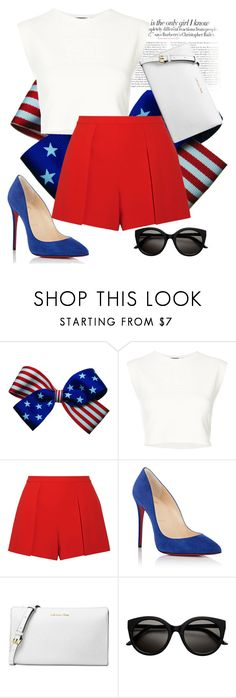 """""""Untitled #185"""" by madness4fashion on Polyvore featuring Vanity Fair, Puma, Alice + Olivia, Christian Louboutin and Michael Kors"""
