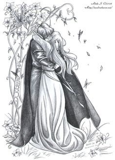 SciFi and Fantasy Art I love you by Adele Lorienne