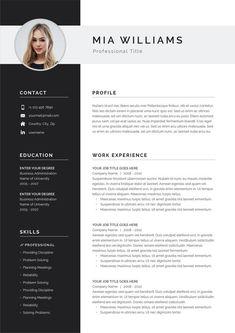 Plantilla de CURRÍCULUM moderno 4 páginas Plantilla DE CV | Etsy