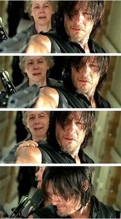 The Walking Dead season 5. Daryl Dixon crying. Damn feelings!