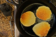 Pancakes for Camping - put all of the liquid ingredients together, then all of the dry - combine them at the campsite.