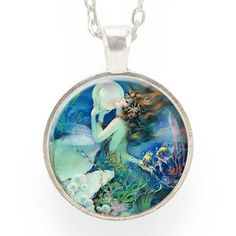 Blue Mermaid Necklace by CellsDividing