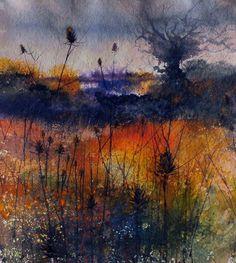 water colour by Pete Gilbert in New Forest