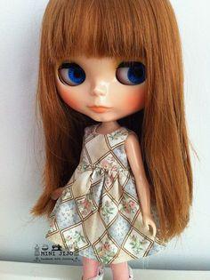 Blythe Brown sweet floral smock dresses by MINIJIJO on Etsy, $5.00