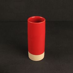Les Guimards Small Cylinder Vase, Red
