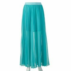 LC Lauren Conrad Chiffon Pleated Maxi Skirt #Spring #Fashion #Style