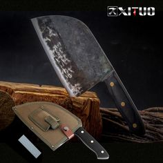 Us 2212 66 Off Xituo Full Tang Chef Knife Handmade Forged High Carbon Clad Steel Kitchen Knives Cleaver Filleting Slicing Broad Butcher Knife In Japanese Kitchen Knives, Best Kitchen Knives, Fruit Turkey, Best Chefs Knife, Knife Grinder, Cleaver Knife, Salmon Sushi, Fish And Chicken, Japanese Chef