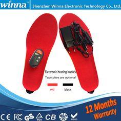 NOWY Elektryczny Podgrzewany Wkładka Buty Zimowe Buty Pad Z Pilotem RED Materiału Piankowego EUR Rozmiar 35-40 #