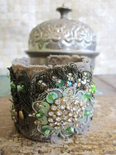 Moss Green Cuff by MagicalMysteryTuca on Etsy, $48.00