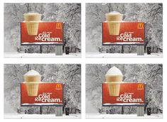 Aproveitar a neve para fazer publicidade à neve! Brilhante!