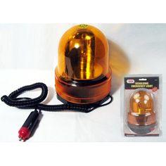 Revolving Emergency Light Strobe Snow Plow Tow Truck Flash Amber Warning New !!