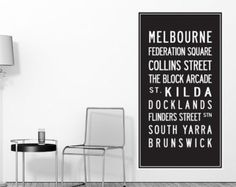 Melbourne Scroll Wall Decal