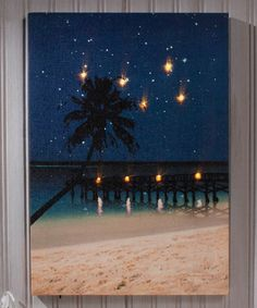Another great find on #zulily! Starry Night Beach Lighted Wrapped Canvas #zulilyfinds