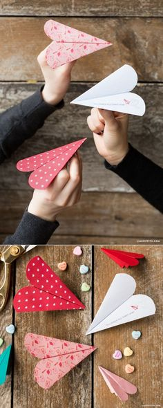 DIY: heart paper airplane