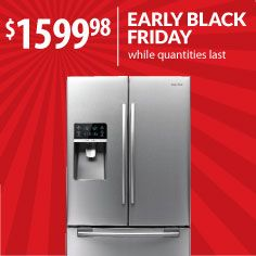 More than 28 cubic feet of Thanksgiving potential. Why wait until the day after and get stuck having to shuffle your beloved leftovers from fridge to fridge? Buy it now at Black Friday prices from Warners' Stellian. Model: RFG297HDRS