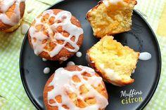 Muffins au citron, cœur fondant