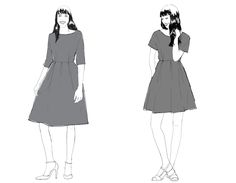 Introducing our newest PDF sewing pattern - The Zeena Dress! (By Hand London) Pdf Sewing Patterns, Dress Patterns, By Hand London, Sew Your Own Clothes, Pattern Library, Diy Dress, Dressmaking, New Look, Vogue