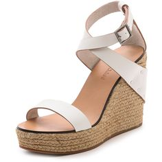 0a86e80a2085 See By Chloe Espadrille Wedges - White ( 310) ❤ liked on Polyvore featuring  shoes