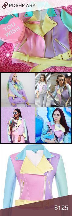 Pastel Moto Sugarpills Dolls Kill Jacket NWOT. Price is firm, no trades. Fits an XS and Small. Dolls Kill Jackets & Coats