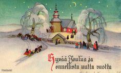 Martta Wendelin Childrens Christmas, Retro Christmas, Christmas Art, Christmas And New Year, New Year Card, Christmas Printables, Christmas Inspiration, Winter Wonderland, Martini