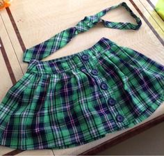 Justice skirt and tie sz 8