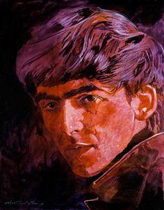 'George Harrison'  ::  by David Lloyd GLOVER  (b.1949)  Victoria, BC artist