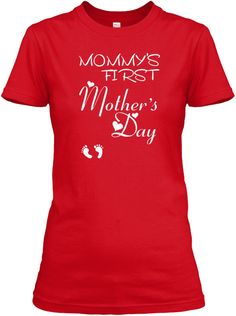 Mother's Day Gifts For Your Mom Tshirt Red T-Shirt Nữ Front