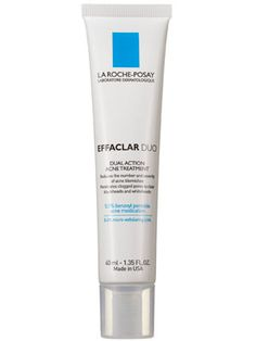 La Roche-Posay Effaclar Duo Review: Skin Care: allure.com KEY INGREDIENTS: Benzoyl peroxide (reduces inflammation and minimizes irritation); lipo-hydroxy acid (exfoliates and improves skin texture and tone)