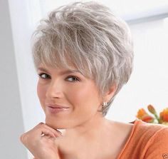 Beautiful Women lady Wig Short Straight Silver Grey Synthetic Hair Wigs +wig cap Related Lisa Rinna Hairstyles for Short Hair : The Right Hairstyles for Youshort hairstyles for over 50 fine hair 2019 2020 Medium Long Layered Fringed Curly, LONG Short Grey Hair, Short Wedding Hair, Short Hair Cuts For Women, Short Hairstyles For Women, Short Haircuts, Modern Hairstyles, Beautiful Hairstyles, Pixie Hairstyles, Wedding Hairstyles