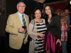 Javier Navascués, de La Rinconada de Lorenzo, con su mujer Elisa, y Carmen Navascués, de Dr Schar