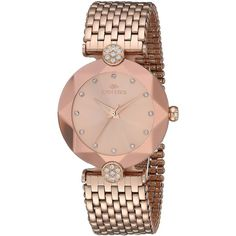 Oniss Paris Women's Quartz Stainless Steel Dress Watch, Color:Rose... ($334) ❤ liked on Polyvore featuring jewelry, watches, quartz movement watches, stainless steel jewellery, rose gold tone watches, dress watches and stainless steel wrist watch