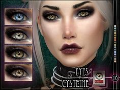 Cysteine Eyes for the Sims 4 Found in TSR Category 'Sims 4 Eye Colors' Sims 4 Cc Eyes, Sims Cc, Sims 4 Mods Clothes, Sims 4 Clothing, Sims 4 Cas Mods, Sims 4 Cc Folder, Sims 4 Traits, Sims Packs, Sims 4 Cc Makeup